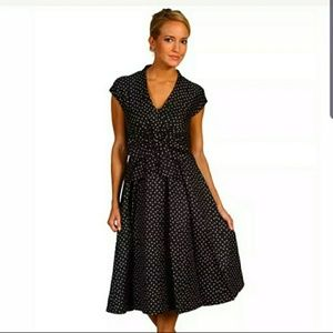 "Kate Spade-Polka Dot ""Freesia"" Bow Dress"
